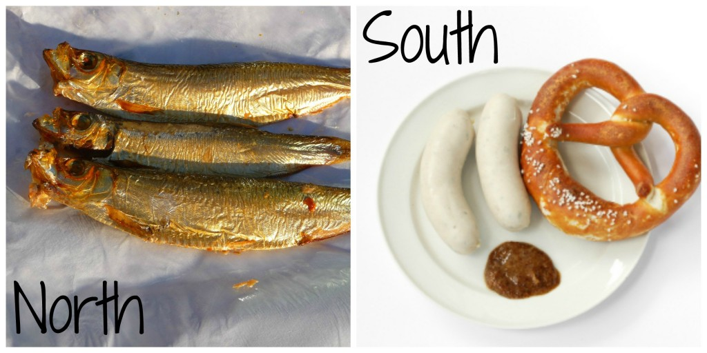 north and south food text