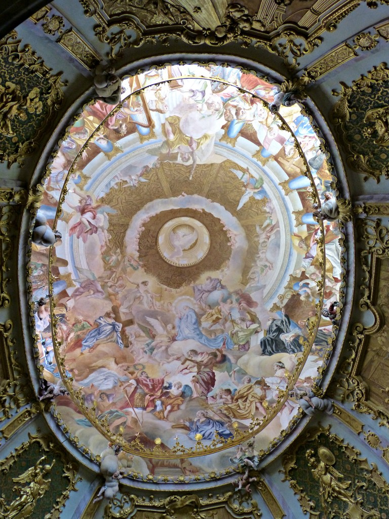 The church ceiling .