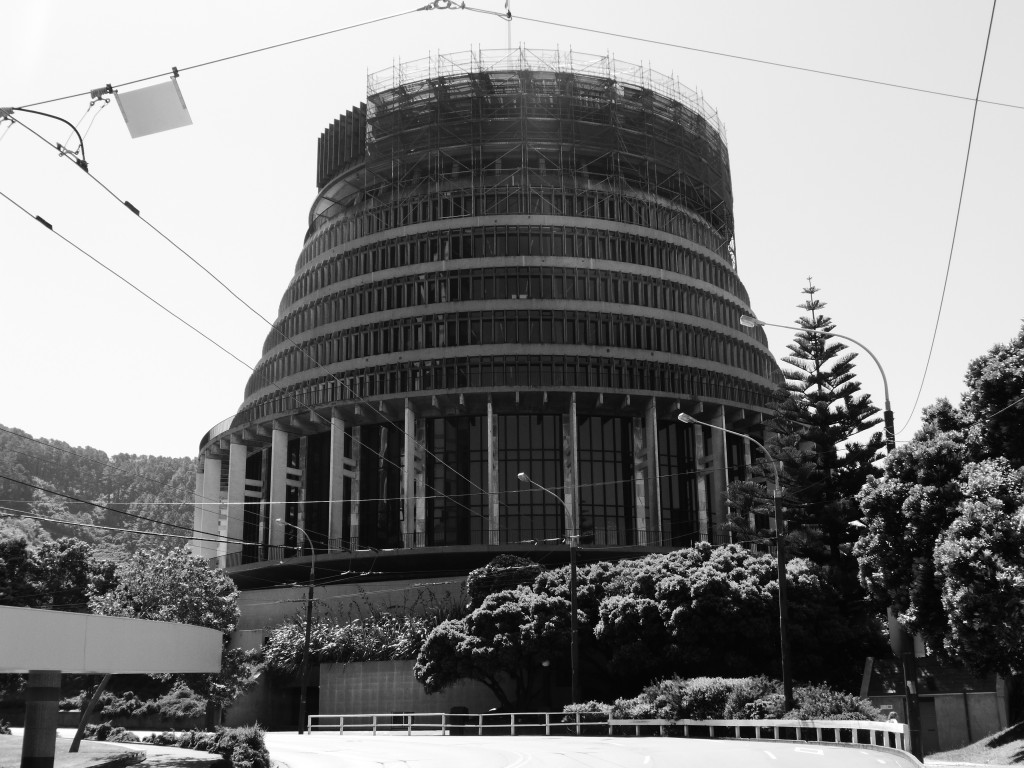Wellington's Parliament - the Beehive.
